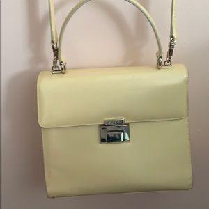 Vintage Gucci Cream Handle Bag